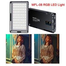 Manbily MFL 08 RGB LED Light 2500K 8500K Lamp Dimmable SCENE Studio Video Vlog Photography Lighting for Youtube DSLR Camera