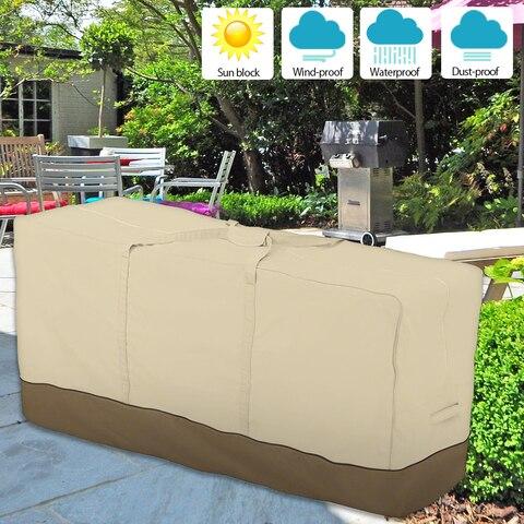 Capa de Mobiliário ao ar Sofá à Prova Pátio Livre Quintal Jardim Cadeira Dwaterproof Água Capa Poeira Proteção Solar Oxford Pano Dobrável Drawstring Tabela