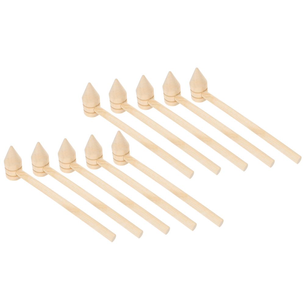 10Pcs Durable Wooden Cake Hammer Multi Purpose Seafood Hammer Crackers Hand Tool