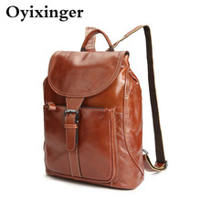 New Luxury Women's Backpack Genuine Leather Women Backpacks Waterproof Back Pack Ladies Travel Bags Bagpacks Mochila Sac A Dos famous brand england style women backpack natural cowhide ladies daypack backpacks travel bags genuine leather back pack w09770
