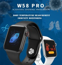 цена на Bluetooth Smart Watch W58pro Body Temperature Measurement Heart Rate monitoring for iOS Android phone Smartwatch Waterproof