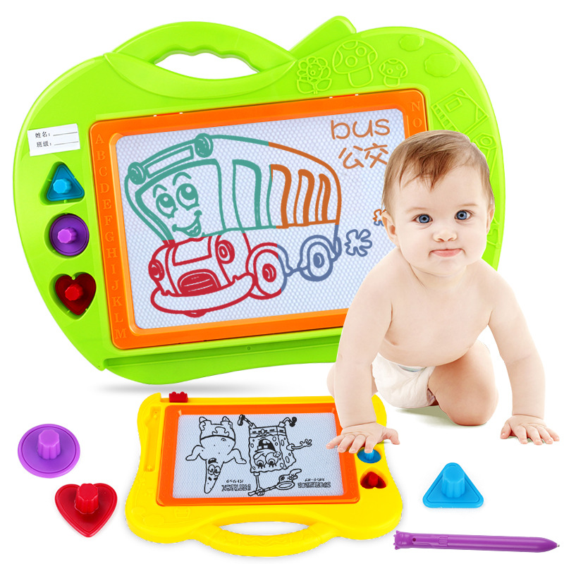 Children Sketchpad Toy 1-2-3-Year-Old Magnetic Small Blackboard Writing Board Boy 1 GIRL'S Manual Imagining Educational Toy