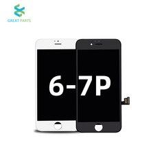 Iphone 7プラスlcdディスプレイタッチスクリーン交換oem事前セル内高品質送料無料でツール4.7 5.5インチecran