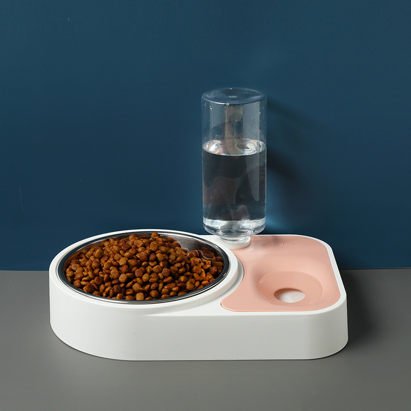 New Style Origional Dog Bowl Moisture-Proof Mouth Dual-Use Pet Bowl Cat Automatic Water Feeder Pet Double Bowl Automatic Drinkin