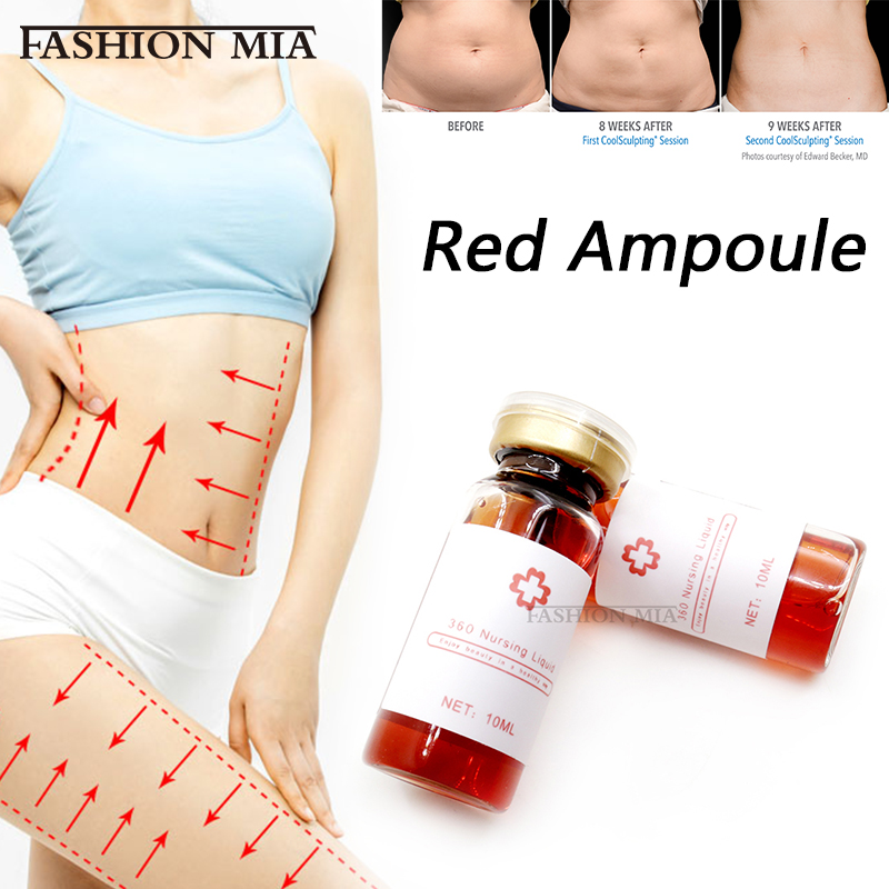 5*10ml Korean Red Ampoule Weight Loss Lipolytic Solution Injection Lose Weight Dissolve Fat Lipolysis For Hyaluron Pen Injection