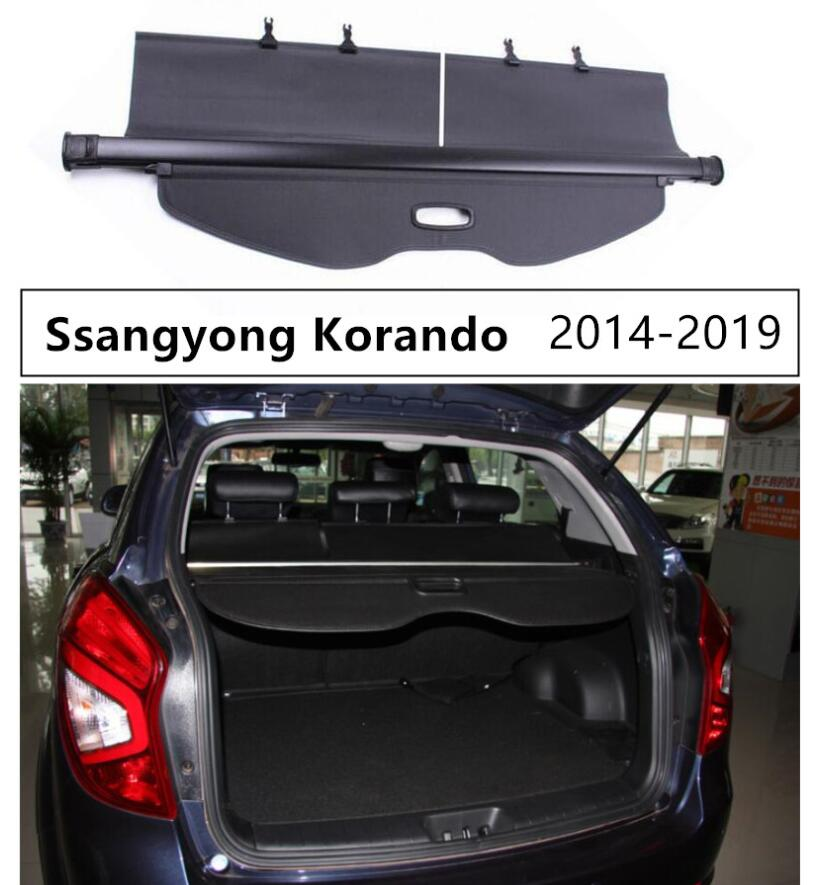Rear Trunk Security Shield Cargo Cover For Ssangyong Korando 2014 2015 2016 2017 2018 2019 High Qualit Auto Accessories image
