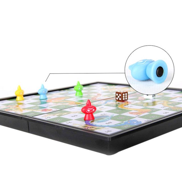 Foldable Magnetic Board Snake & Ladders Chess Game Interactive Desktop Party Toy Interactive Party Games Christmas Board Games 5