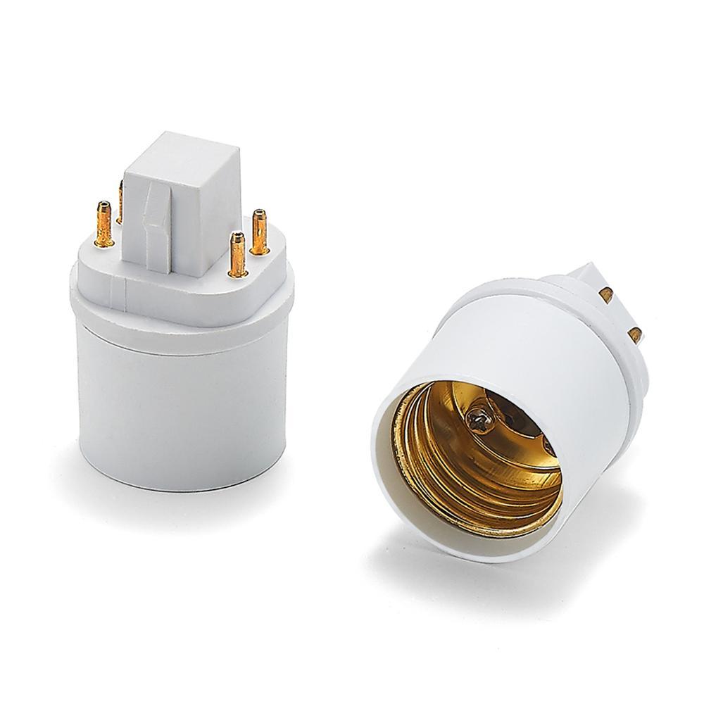 GX24 To E27 Adapter GX24Q To E27 E26 Lamp Holder Power Adapter Converter Base Socket LED Light Bulb Extend Plug