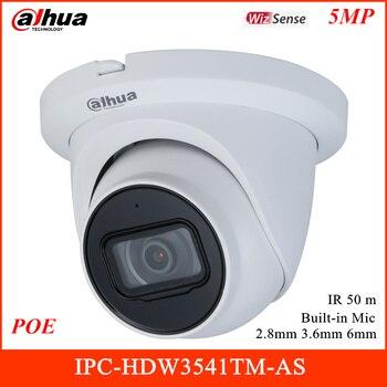 Cámara de red Dahua 5MP WizSense con micrófono integrado 2,8mm 3,6mm 6 mm IR 50m compatible con tarjeta SD de 256G y IPC-HDW3541TM-AS POE