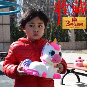 Гигантские Игрушки, губка, милая супер большая лошадь, единорог, медленно поднимается, муха, единорог, мягкие игрушки для снятия стресса, дет...