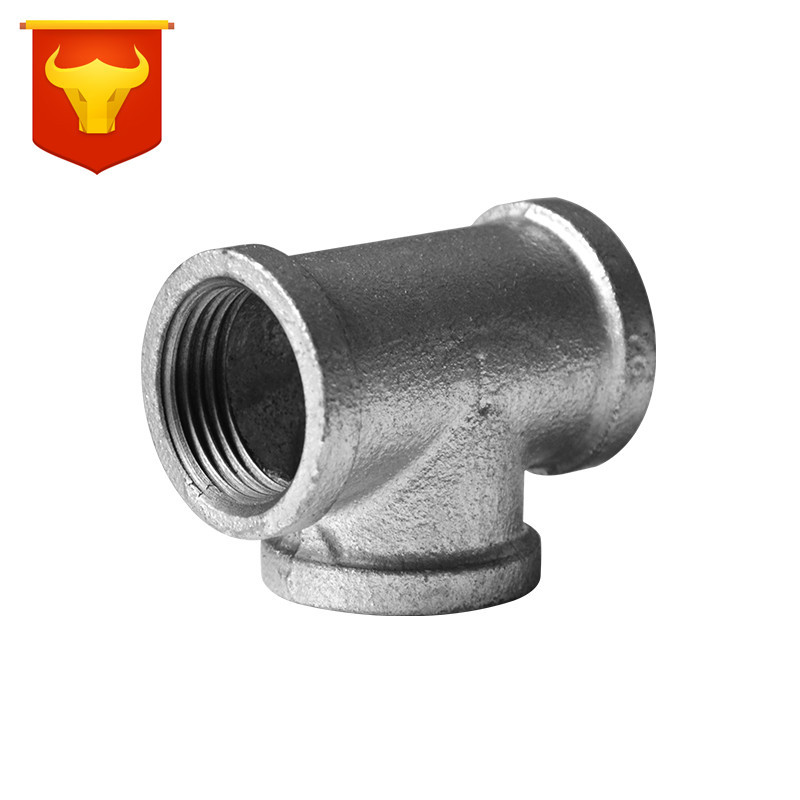 Crush Malleable Iron Hot Galvanized Firefighting Heating Fuel Gas Plumbing Pipe Fittings Wholesale Diameter Reducing Elbow T-con
