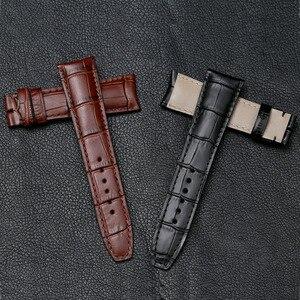 Image 5 - Pesno jacaré grão bezerro pele couro genuíno relógio de pulso banda 20mm 21mm pulseira relógio masculino para baume & mercie