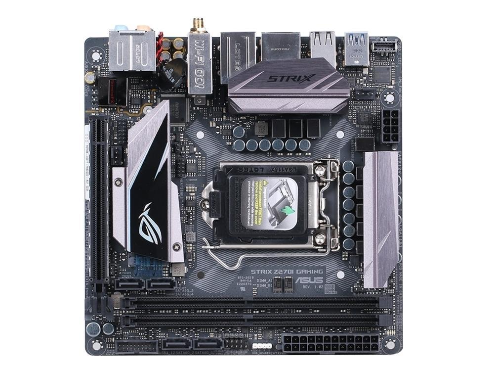 Игровая настольная материнская плата Asus ROG strix Z270I Z270 Socket LGA 1151 для Core i7 i5 i3 DDR4 32G Mini-ITX оригинальная б/у материнская плата