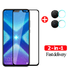 Camera Lens Film+9H Protective Glass Honor 8X Tempered Glass Screen Protector For Huawei Honor 8X Glass Honor 8A 9 X Pro Film glass for honor 8x 20 tempered glass screen protector huawei honor 20 8x glass screen protector hononr 20 phone protective film