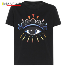 Summer top camisetas 19ss new t shirt men Luxury designer design Eye print  Streetwear harajuku Print Cotton funny shirts