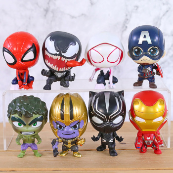 Superheroes Avengers Set of 8 Toys with Removable Heads 2