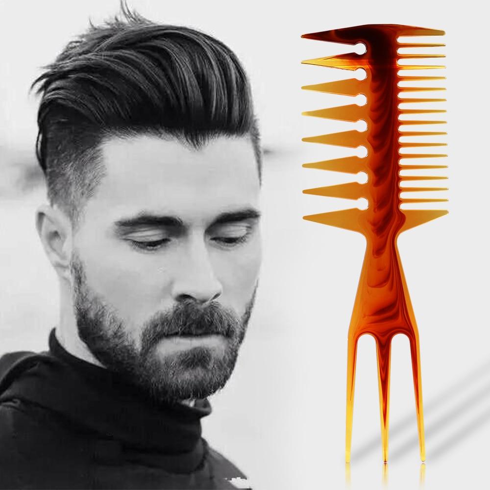 Three-sided Hair Comb Insert Hair Fork Comb Oil Slick Styling Hair Brush Hairdressing Accessory Brush For Man & Women