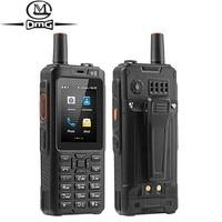 Telefone móvel à prova de choque 4000 mah zello walkie talkie 4g gps smartphone áspero android 6.0 quad core duplo sim f40 celular