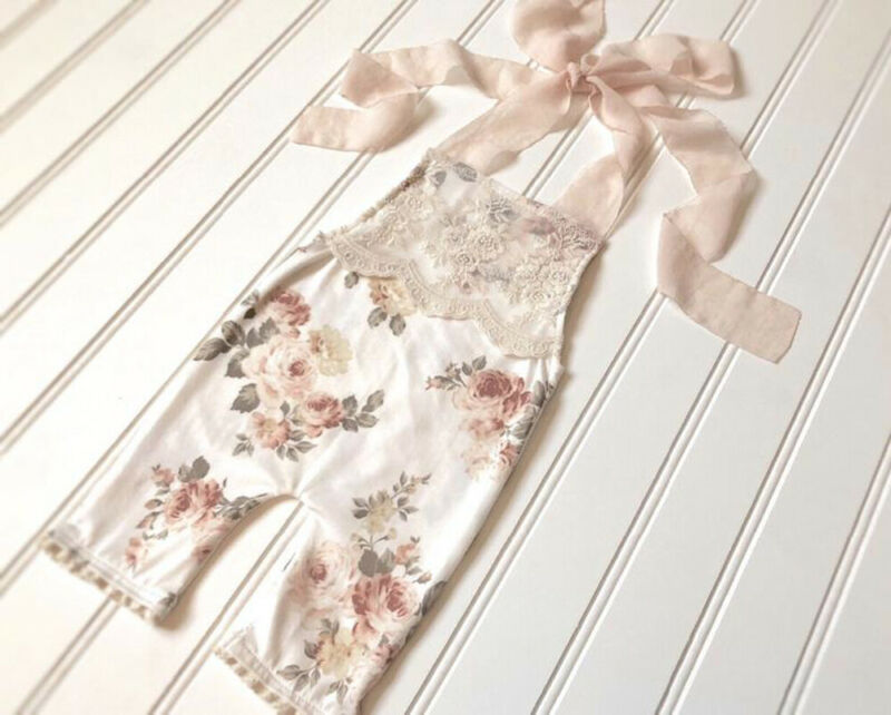 Overall Outfit Holiday Baby-Girl Toddler Kids Summer Floarl Lace Cotton Jumpsuit Rompers Bandage Casual Cute Fashionable 0-4T