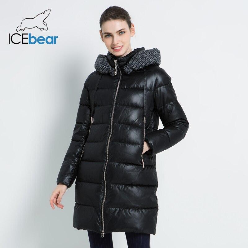 2019 جديد المرأة الشتاء سترة مقنعين الإناث الملابس دافئ المرأة معطف يندبروف السيدات ستر العلامة التجارية الملابس GWD19600I-في سترات فرائية مقلنسة من ملابس نسائية على  مجموعة 2