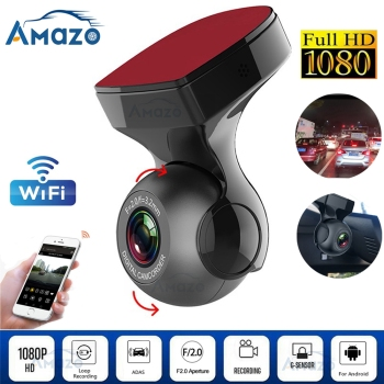 HD 1080P Wifi Dash Cam Car Dvr Dash Camera FHD Dvr Recorder Wifi G-sensor Gps Mini dash Camera Night Registrator Recorder