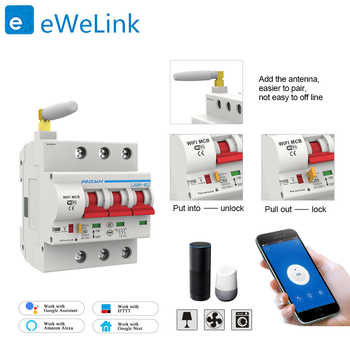 3P WiFi Smart Circuit Breaker Automatic Switch overload short circuit protection for Amazon Alexa and Google home for Smart home - DISCOUNT ITEM  32% OFF All Category