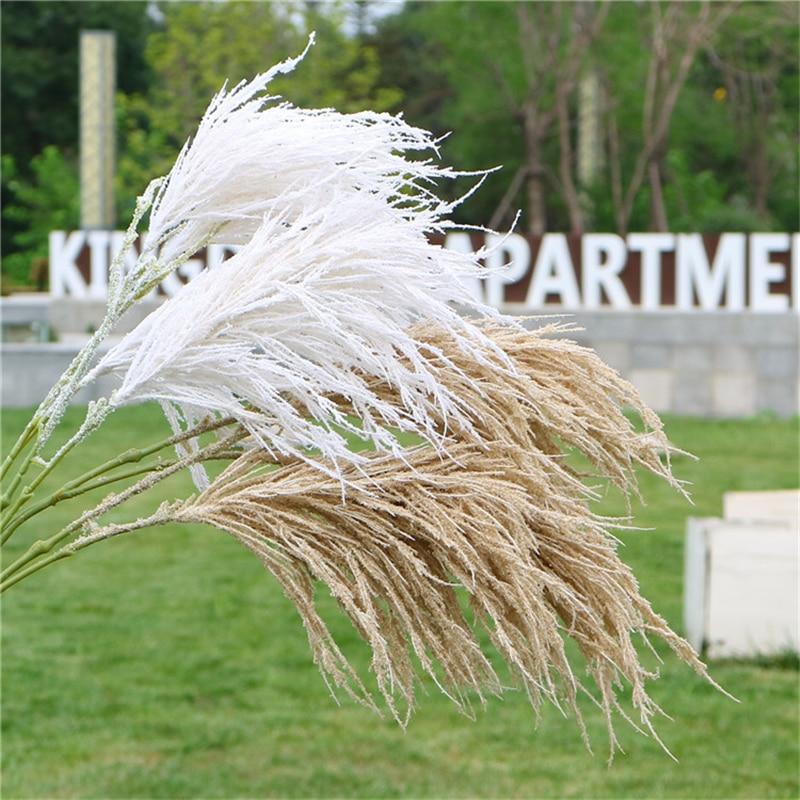 5pcs/lot 2 Fork Dreamlike Christmas Reed Artificial Flower 102cm Wedding DIY Flowers for Decor