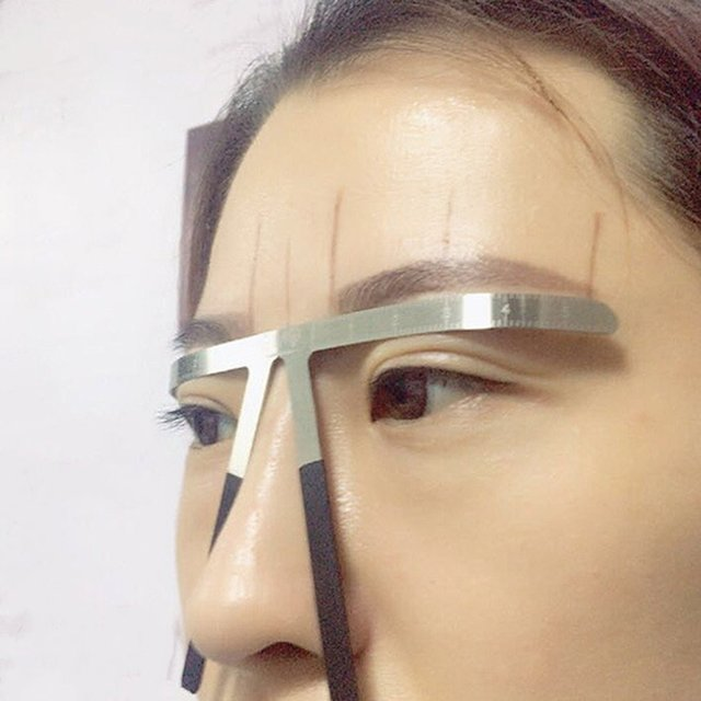 Eyebrows Shaping Thrush Card DIY Hollow Threading Artifact Thrush Aid Card Easy Makeup Eyebrow Template 1