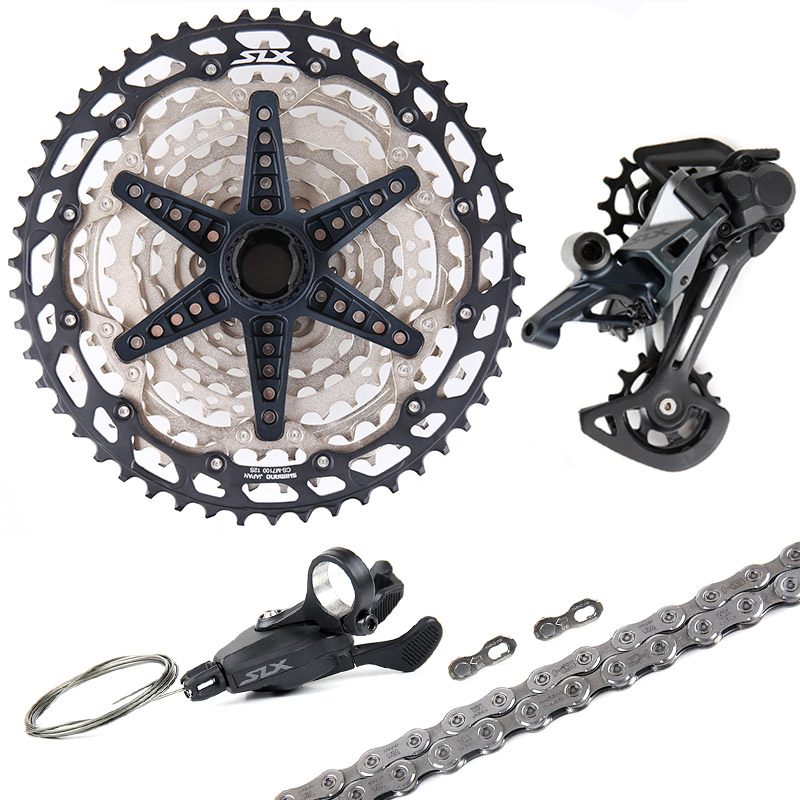 NEW SHIMANO SLX M7100 12 Speed 1x12/2x12 MTB Groupset Shifter Lever Rear Derailleur 10-45T/10-51T Cassette With 12-Speed Chain