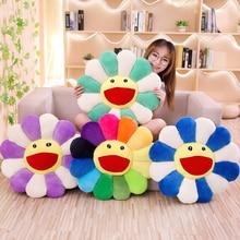 43-100cm Smile Sunflower Plush Toy Stuffed Pet Sleep Cushion Mat Tatami Pillow Sun Flower Home Bedroom Car Shop Decor Girls Gift