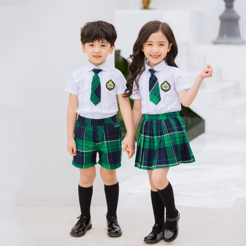 Kindergarten Suit Summer Wear CHILDREN'S DAY Children May Day School Uniform Choral Service England Set Performance Wear Young S