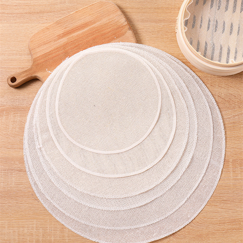 2pcs Cotton Steam Cloth For Steaming Grid Cleaning Steam Basket Cloth Cookware Gadget