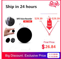 8G/16G Professional HD Noise Reduction Brooch Voice Recorder With HIFI MP3 Player Digital Audio Mini Voice Recorder