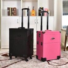 Горячий Маникюр Роллинг багаж для мужчин тату тележки чемоданы для женщин высокое качество макияж Toolbox косметический чехол с колесами