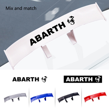 Car Styling tail spoiler non-perforated vehicle stability car sticker decal For Abarth Fiat Siena Palio 500L 500x Doblo 595 695 new pu leather auto universal front back car seat covers for fiat bravo 500x 500l fiorino qubo perla palio weekend siena