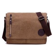 2019 New Fashion Vintage Men Canvas Handbags High Quality Shoulder Bags Crossbody Mens  Messenger