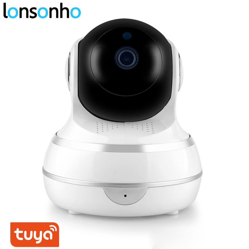 Lonsonho Smart Wifi IP Camera Wireless Home Security 1080P 2MP Two Way Audio Motion Detector IR Night Vision Tuya Smart Life APP-in Surveillance Cameras from Security & Protection