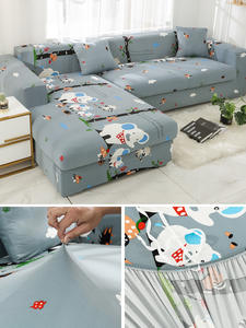 Sofa-Covers Couch Chaise Corner Stretch Living-Room L-Shape Printed Elastic for Sectional