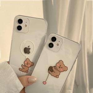 Image 5 - Transparent Cartoon Bear Cover Case For iPhone 12 12min 12Pro 12ProMax 11 11Pro 11ProMax SE2020 X XS XSMAX XR 7 8 7Plus 8Plus