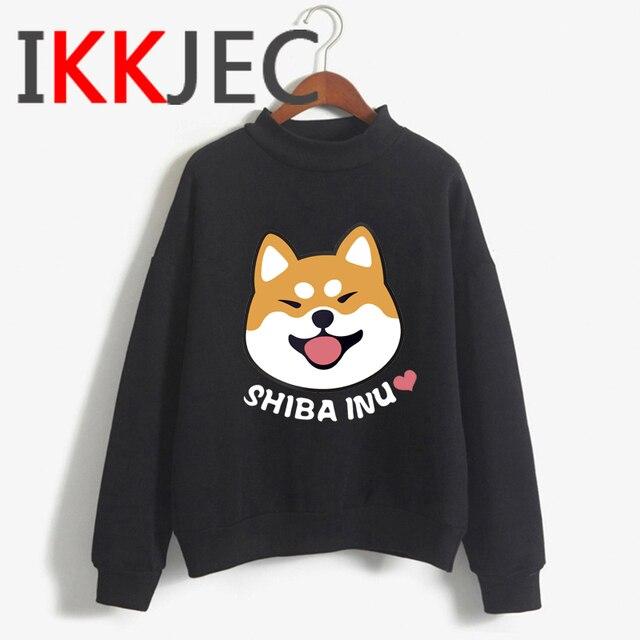 Shiba Inu Kawaii Dogs Funny Cartoon Grunge Aesthetic Hoodies Women Ladies Harajuku Cute Anime Sweatshirt Streetwear Hodoy Female 1