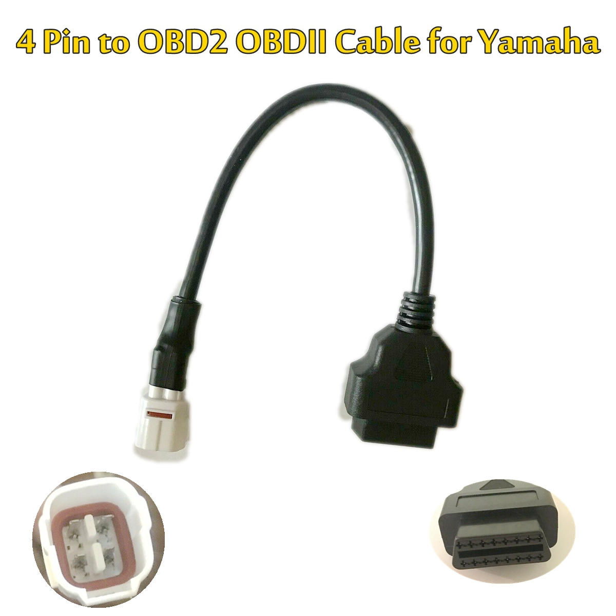 NEW Diagnostic 4 Pin To OBD2 OBDII Cable Harness Adapter For Yamaha FJ09, FZ09, MT09, FZ-10, MT-10, XSR900, R6, R1, 900/GT ETC
