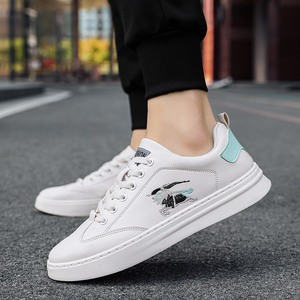Men's embroidered leather board shoes simple casual shoes Korean fashion sports men's fashion shoes