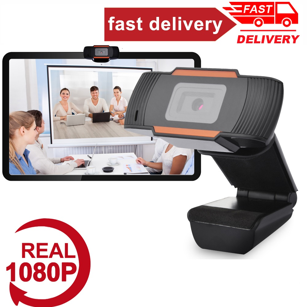 New 360 Degrees Rotatable 2.0 HD Webcam 1080p USB Camera Video Recording Web Camera With Microphone For PC Computer