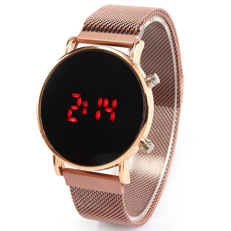 Relógios masculinos esportivos led, fivela de ímã homens relógios digitais homem exército militar silicone relógio de pulso relógio masculino