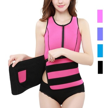Zipper Sweat Running Vest Body Hot Shapes Power Clothes Neoprene Rubber 3 Layers Cloth Abdomen Slimming Shapewear Belt Corset