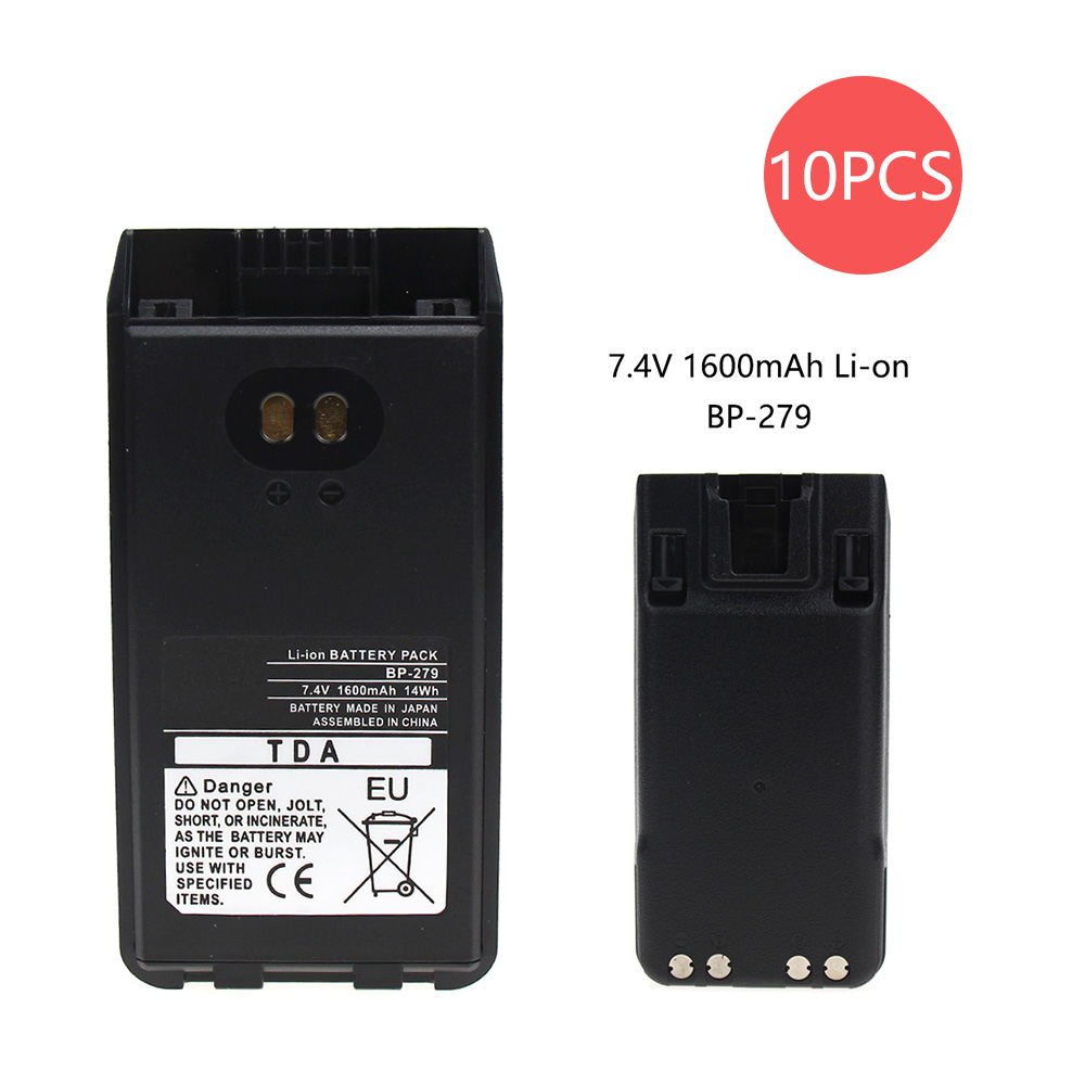 10 Pcs 1600mAh Replacement Battery For ICOM F1000S BP-279 F1000 F1000D F1000T F2000 F2000D F2000T FT-2000 IC-V88 Two Way Radio