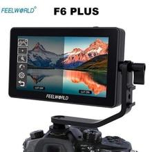 Feelworld f6 além disso monitor de liga alumínio 5.5 Polegada tela sensível ao toque diretor monitor dslr câmera 4 k micro único display