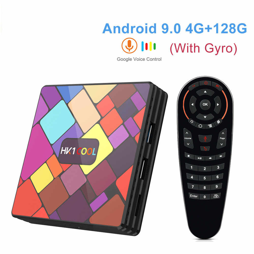 HK1 Cool Android 9.0 TV BOX RK3318 2.4G/5G double Wifi lecteur multimédia intelligent 4GB RAM 128GB 64GB 32GB 4K HD décodeur hkpk 1 MAX