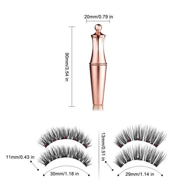 Magnetic False Eyelashes No Glue Full Eye 5 Magnet Reusable Fake Eyelashes Natural Soft Eyelashes Extension Magnetic Eyelash Kit 4