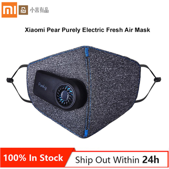 100% Original Xiaomi Pear Purely Electric Fresh Air Face Mask with Fan Lightweight Breathable Classic Style Super Purification